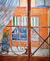 VAN GOGH A PORK BUTCHERS SHOP SEEN FROM A WINDOW ARTIST PAINTING HANDMADE CANVAS