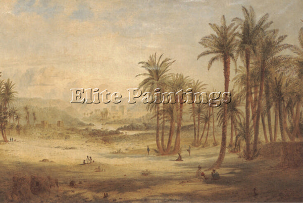 EDWARD LEAR A VIEW OF PHILAE ARTIST PAINTING REPRODUCTION HANDMADE CANVAS REPRO
