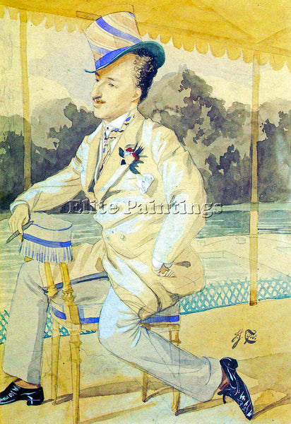 TISSOT A DANDY ARTIST PAINTING REPRODUCTION HANDMADE OIL CANVAS REPRO WALL  DECO