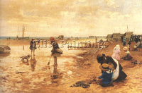 ALFRED GLENDENING A DAY AT THE SEASIDE ARTIST PAINTING REPRODUCTION HANDMADE OIL