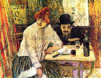 TOULOUSE-LAUTREC A LA MIE IN THE RESTAURANT ARTIST PAINTING HANDMADE OIL CANVAS