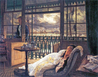 TISSOT A STORM MOVES OVER ARTIST PAINTING REPRODUCTION HANDMADE OIL CANVAS REPRO