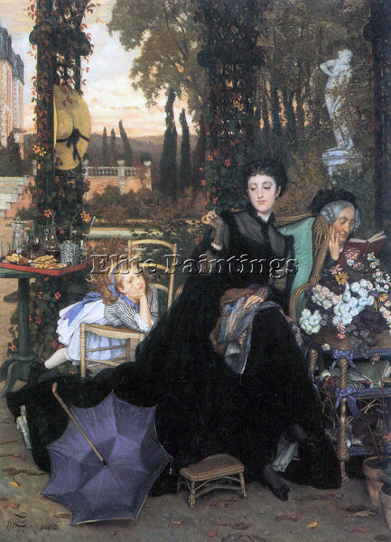 TISSOT A WIDOW ARTIST PAINTING REPRODUCTION HANDMADE OIL CANVAS REPRO WALL  DECO