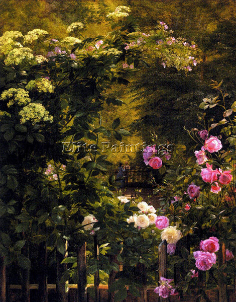 CARL FREDRIK AAGARD AAGAARD CARL FREDERICK THE ROSE GARDEN ARTIST PAINTING REPRO