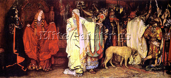 EDWIN AUSTIN ABBEY  KING LEAR CORDELIA S FAREWELL ARTIST PAINTING REPRODUCTION