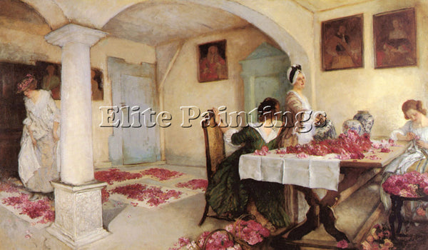 EDWIN AUSTIN ABBEY  POTPOURRI ARTIST PAINTING REPRODUCTION HANDMADE CANVAS REPRO