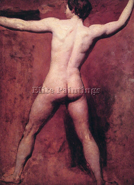 WILLIAM ETTY ACADEMIC MALE NUDE ARTIST PAINTING REPRODUCTION HANDMADE OIL CANVAS