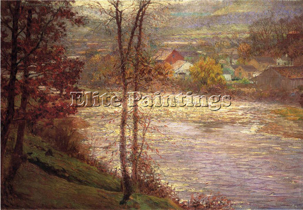 AMERICAN ADAMS JOHN OTTIS MORNING ON THE WHITEWATER BROOKILLE INDIANA ARTIST OIL