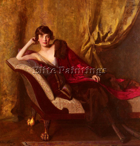 AUSTRIAN ADAMS JOHN QUINCY PORTRAIT OF COUNTESS MICHAEL KAROLYI ARTIST PAINTING