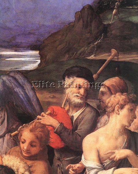 AGNOLO BRONZINO ADORATION OF SHEPHERDS DET ARTIST PAINTING REPRODUCTION HANDMADE