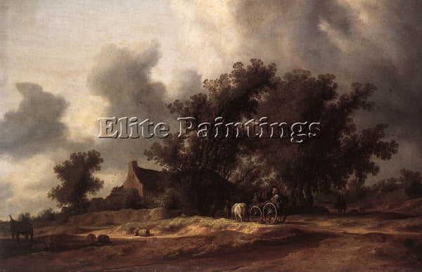 SALOMON VAN RUYSDAEL AFTER THE RAIN ARTIST PAINTING REPRODUCTION HANDMADE OIL