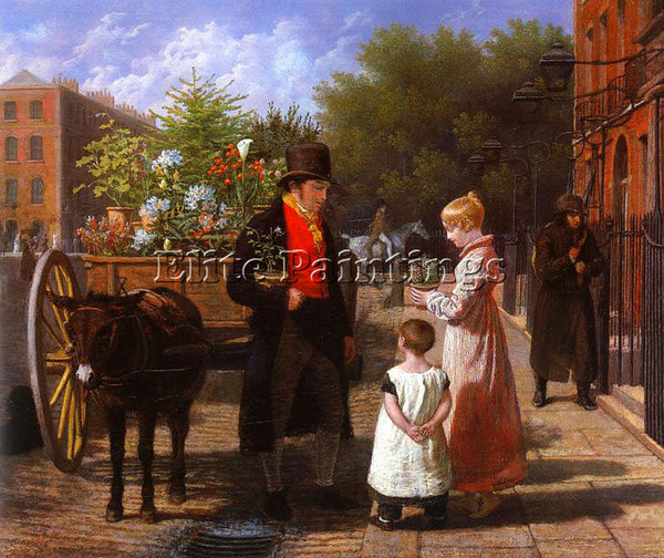 SWISS AGASSE JACQUES LAURENT THE FLOWER SELLER ARTIST PAINTING REPRODUCTION OIL