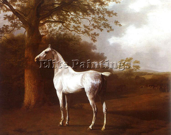 SWISS AGASSE JACQUES LAURENT WHITE HORSE IN PASTURE ARTIST PAINTING REPRODUCTION