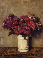 AMERICAN AKKERINGA JOHANNES EVERT CHRYSANTHEMUMS IN A VASE ARTIST PAINTING REPRO - Oil Paintings Gallery Repro