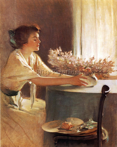 JOHN WHITE ALEXANDER A MEADOW FLOWER ARTIST PAINTING REPRODUCTION HANDMADE OIL