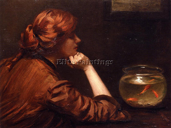 JOHN WHITE ALEXANDER AN IDLE MOMENT ARTIST PAINTING REPRODUCTION HANDMADE OIL