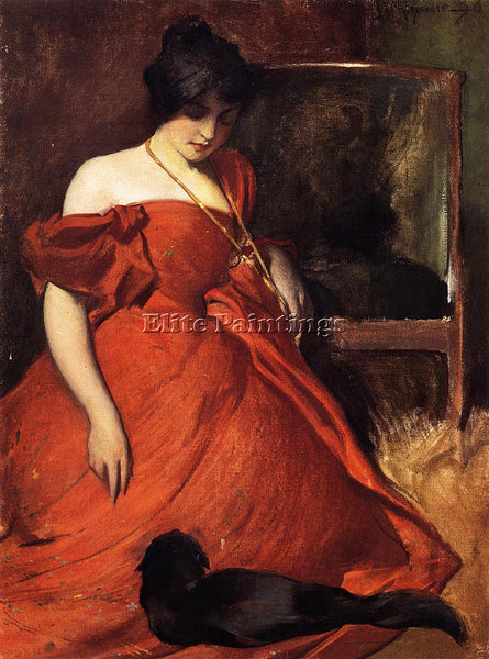JOHN WHITE ALEXANDER BLACK AND RED ARTIST PAINTING REPRODUCTION HANDMADE OIL ART