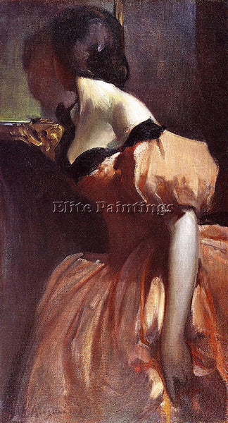 JOHN WHITE ALEXANDER FANCY DRESS ARTIST PAINTING REPRODUCTION HANDMADE OIL REPRO