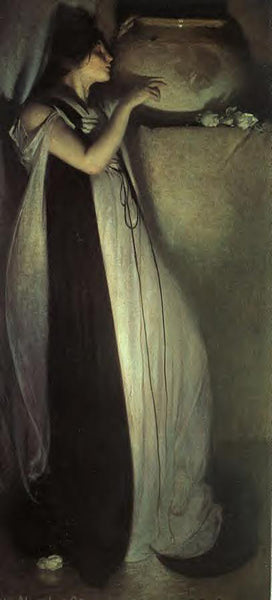 JOHN WHITE ALEXANDER ISABELLA AND THE POT OF BASIL ARTIST PAINTING REPRODUCTION