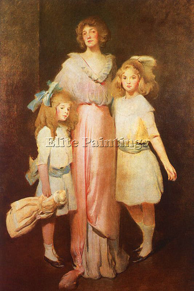 JOHN WHITE ALEXANDER MRS DANIELS WITH TWO CHILDREN ARTIST PAINTING REPRODUCTION