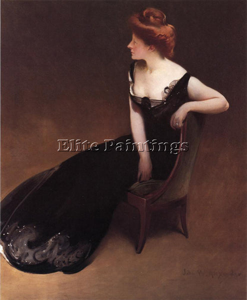 JOHN WHITE ALEXANDER PORTRAIT OF MRS V MRS HERMAN DURYEA ARTIST PAINTING CANVAS