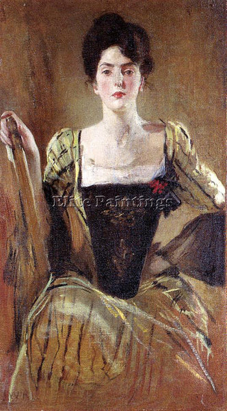 JOHN WHITE ALEXANDER THE GREEN GOWN ARTIST PAINTING REPRODUCTION HANDMADE OIL