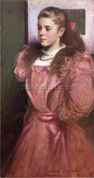 J WHITE ALEXANDER YOUNG GIRL IN ROSE AKA PORTRAIT ELEANORA RANDOLPH SEARS CANVAS