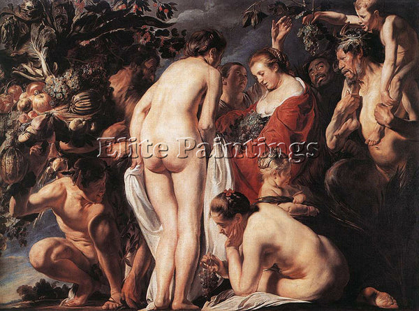 JACOB JORDAENS ALLEGORY OF FERTILITY2 ARTIST PAINTING REPRODUCTION HANDMADE OIL