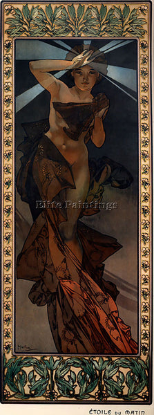 ALPHONSE MARIA MUCHA MORNING STAR 1902  ARTIST PAINTING REPRODUCTION HANDMADE