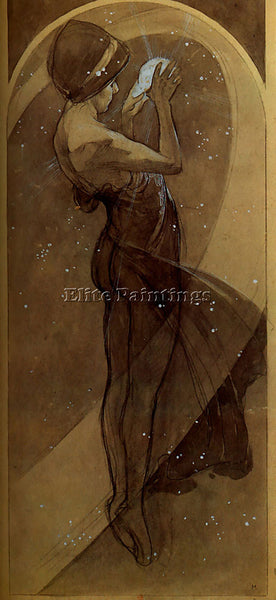 ALPHONSE MARIA MUCHA NORTH STAR 1902   ARTIST PAINTING REPRODUCTION HANDMADE OIL