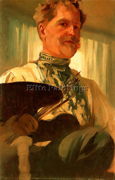 ALPHONSE MARIA MUCHA SELF PORTRAIT 1907  ARTIST PAINTING REPRODUCTION HANDMADE