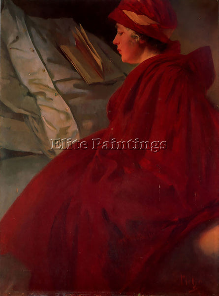 ALPHONSE MARIA MUCHA THE RED CAPE 1902  ARTIST PAINTING REPRODUCTION HANDMADE