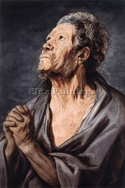 JACOB JORDAENS AN APOSTLE ARTIST PAINTING REPRODUCTION HANDMADE OIL CANVAS REPRO