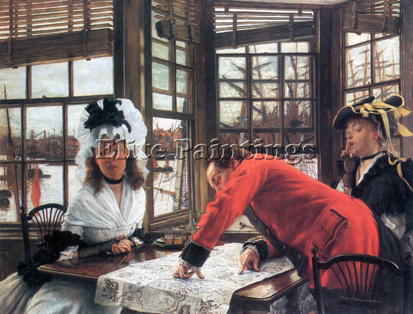 TISSOT AN INTERESTING STORY ARTIST PAINTING REPRODUCTION HANDMADE OIL CANVAS ART