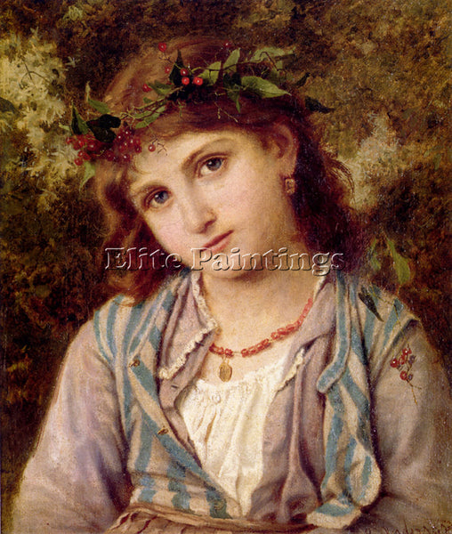 SOPHIE GENGEMBRE ANDERSON AN AUTUMN PRINCESS ARTIST PAINTING HANDMADE OIL CANVAS