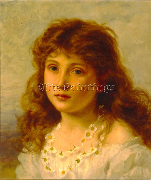SOPHIE GENGEMBRE ANDERSON YOUNG GIRL ARTIST PAINTING REPRODUCTION HANDMADE OIL