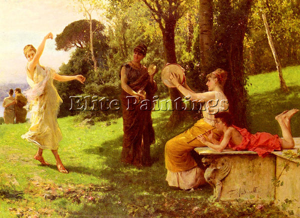 FEDERICO ANDREOTTI THE DANCE ARTIST PAINTING REPRODUCTION HANDMADE CANVAS REPRO