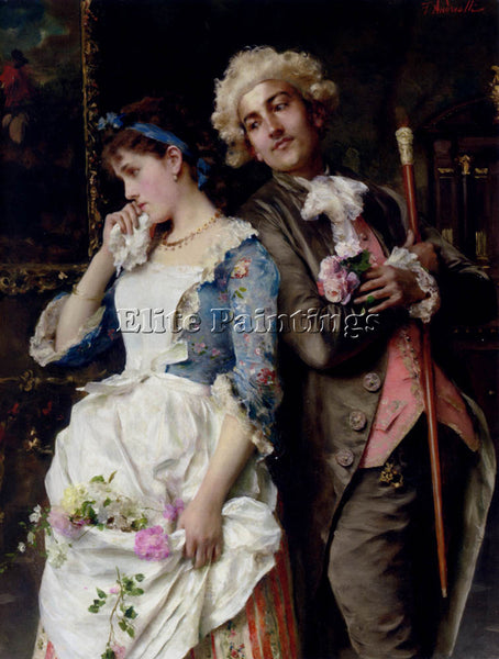 FEDERICO ANDREOTTI THE PERSISTENT SUITOR ARTIST PAINTING REPRODUCTION HANDMADE
