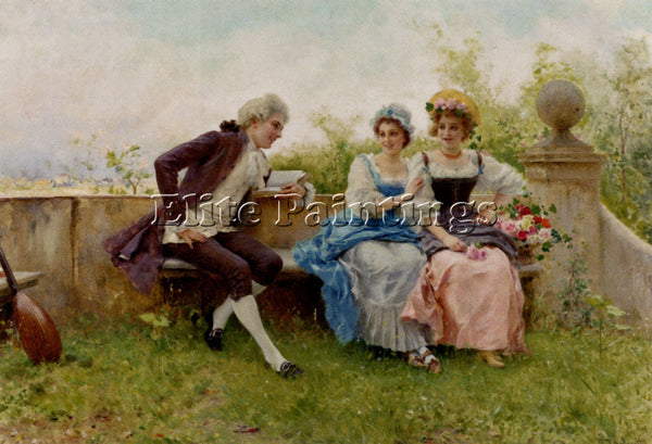 FEDERICO ANDREOTTI THE POEM ARTIST PAINTING REPRODUCTION HANDMADE OIL CANVAS ART