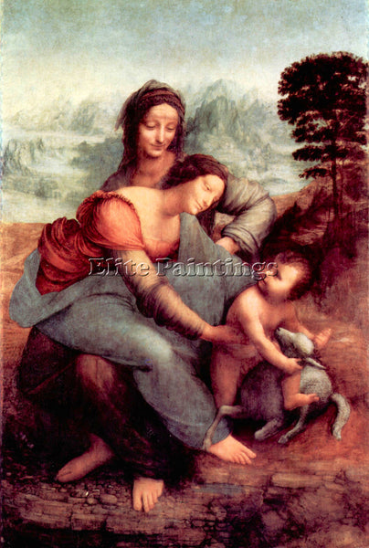 LEONARDO DA VINCI ANNA SELBDRITT 2 ARTIST PAINTING REPRODUCTION HANDMADE OIL ART