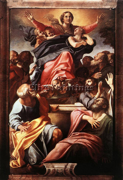 ANNIBALE CARRACCI ASSUMPTION OF VIRGIN MARY ARTIST PAINTING HANDMADE OIL CANVAS