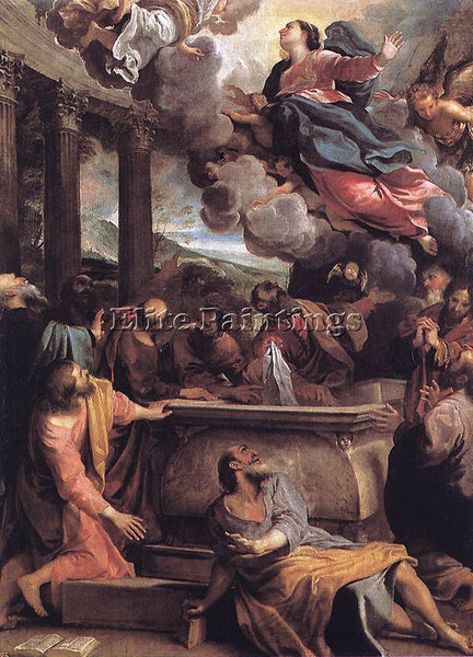 ANNIBALE CARRACCI ASSUMPTION OF THE VIRGIN ARTIST PAINTING REPRODUCTION HANDMADE