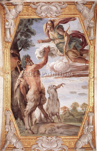 ANNIBALE CARRACCI HOMAGE TO DIANA ARTIST PAINTING REPRODUCTION HANDMADE OIL DECO