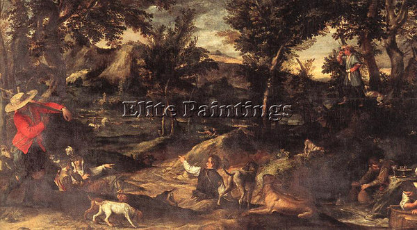 ANNIBALE CARRACCI HUNTING ARTIST PAINTING REPRODUCTION HANDMADE OIL CANVAS REPRO
