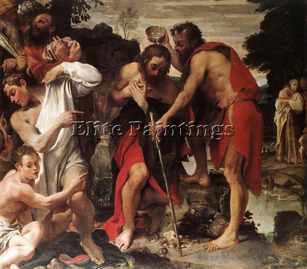 ANNIBALE CARRACCI THE BAPTISM OF CHRIST ARTIST PAINTING REPRODUCTION HANDMADE