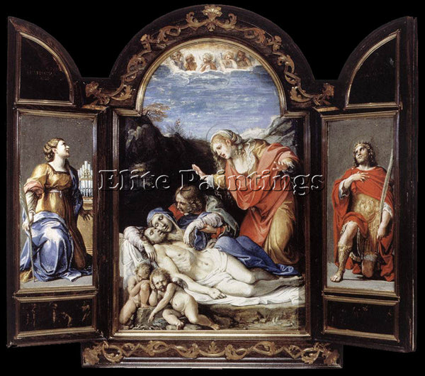 ANNIBALE CARRACCI TRIPTYCH1 ARTIST PAINTING REPRODUCTION HANDMADE OIL CANVAS ART