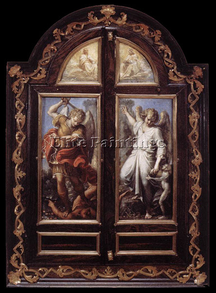 ANNIBALE CARRACCI TRIPTYCH21 ARTIST PAINTING REPRODUCTION HANDMADE CANVAS REPRO