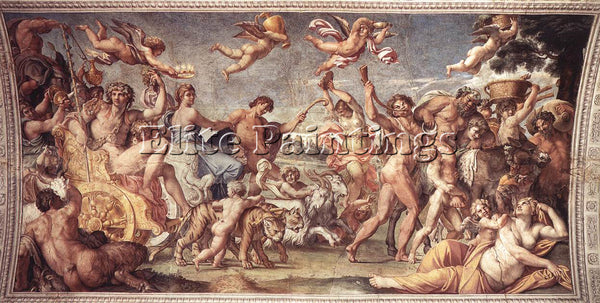 ANNIBALE CARRACCI TRIUMPH OF BACCHUS AND ARIADNE ARTIST PAINTING HANDMADE CANVAS