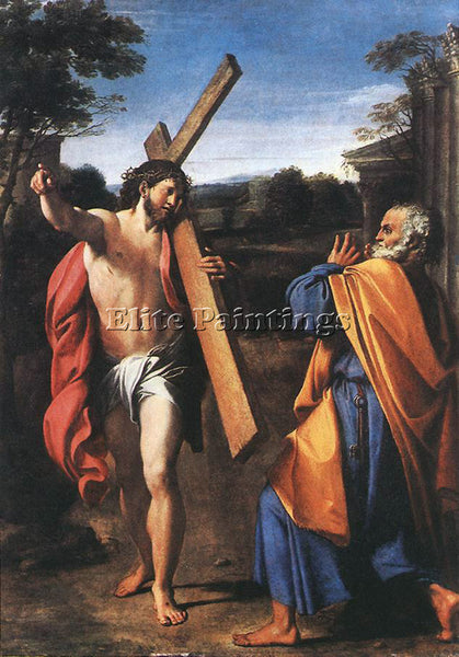 ANNIBALE CARRACCI DOMINE QUO VADIS ARTIST PAINTING REPRODUCTION HANDMADE OIL ART