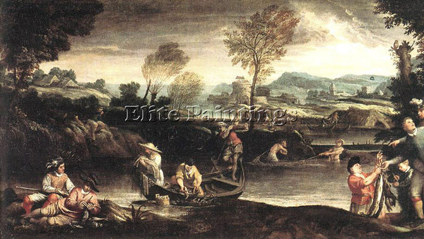 ANNIBALE CARRACCI FISHING ARTIST PAINTING REPRODUCTION HANDMADE OIL CANVAS REPRO